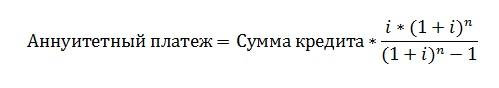 Формула переплаты